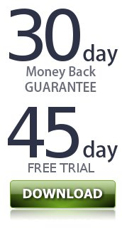 30-day, no-questions-asked, full-money-back guarantee. 45-day free trial.