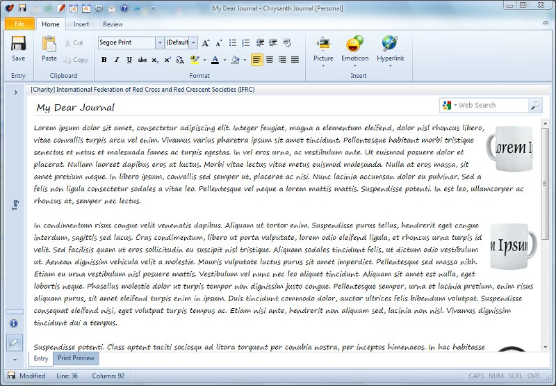 Click to view Chrysanth Journal [Free] 5.3 screenshot